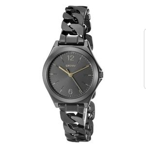 ⌚DKNY Black Stainless Steel Ladies Watch ⌚